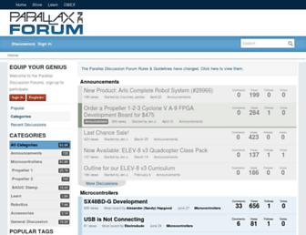 forums.parallax.com screenshot