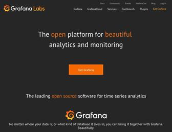 grafana.com screenshot