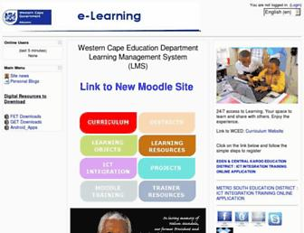 elearning-dev.wcape.school.za screenshot