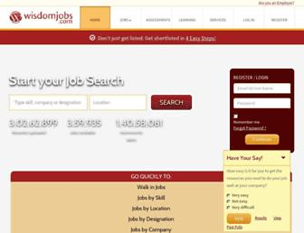 wisdomjobs.com screenshot