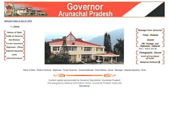 arunachalgovernor.gov.in screenshot