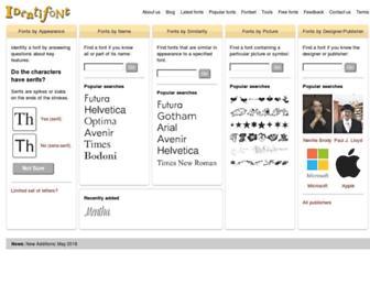 identifont.com screenshot