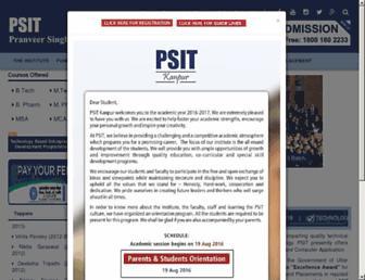 psit.ac.in screenshot