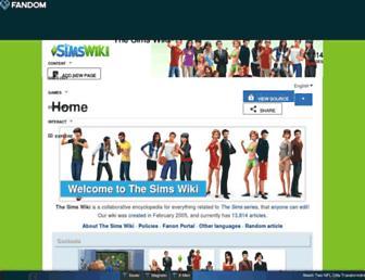 sims.fandom.com screenshot