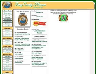 taneycounty.org screenshot