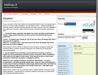 Main page screenshot of nezinau.lt
