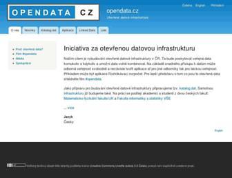 opendata.cz screenshot