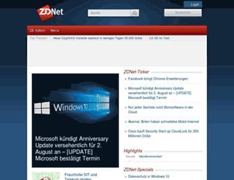 Main page screenshot of zdnet.de