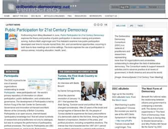 Main page screenshot of deliberative-democracy.net