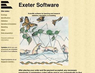 exetersoftware.com screenshot