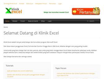 klinikexcel.com screenshot