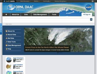 daac.ornl.gov screenshot
