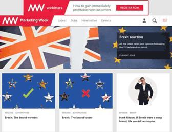 Main page screenshot of marketingweek.co.uk