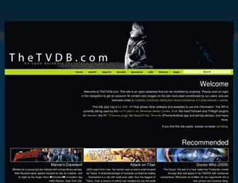 thetvdb.com screenshot