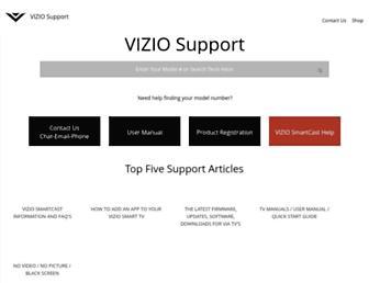 support.vizio.com screenshot