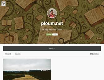 Main page screenshot of ploum.net