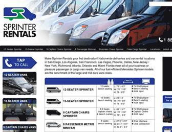sprinter-rentals.com screenshot