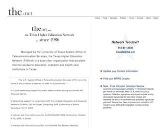 Main page screenshot of the.net