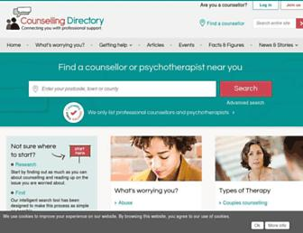 Thumbshot of Counselling-directory.org.uk