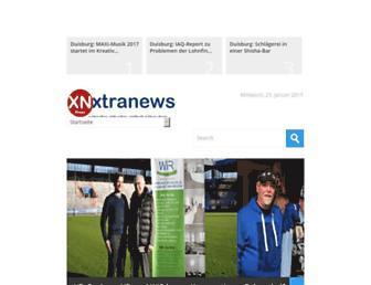 Main page screenshot of xtranews.de