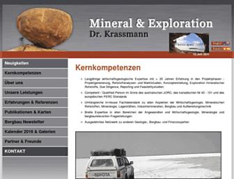 Main page screenshot of mineral-exploration.de