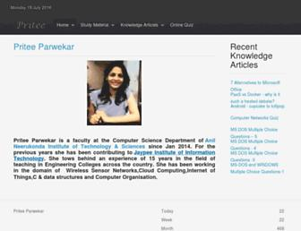 pritee.org screenshot
