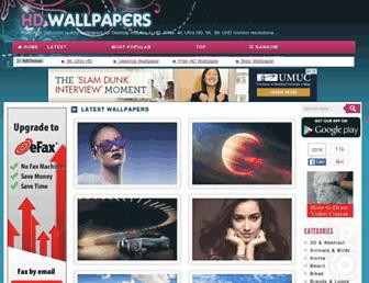 Main page screenshot of hdwallpapers.in
