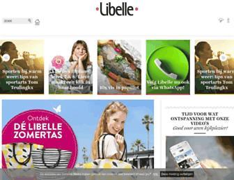 Main page screenshot of libelle.be