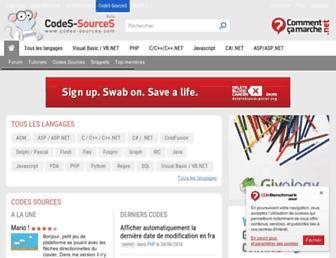 codes-sources.commentcamarche.net screenshot