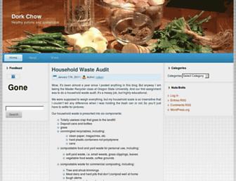 Main page screenshot of food.dorkage.net
