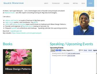 Main page screenshot of sujee.net