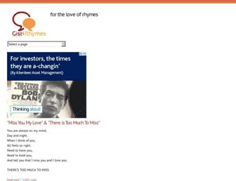 gistandrhymes.com screenshot