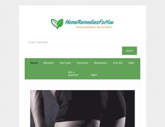 Thumbshot of Homeremediesforyou.com
