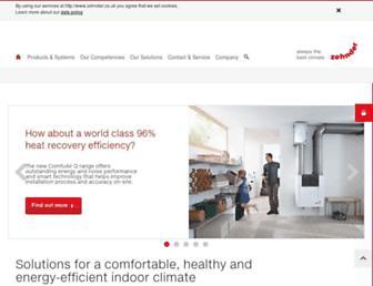 zehnder.co.uk screenshot