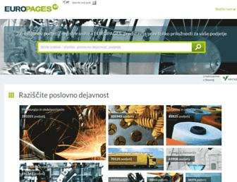 Main page screenshot of europages.si