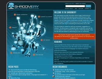 Main page screenshot of shroomery.org