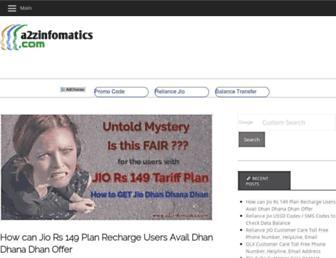 a2zinfomatics.com screenshot