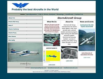 stormaircraft.com screenshot