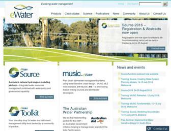 ewater.org.au screenshot