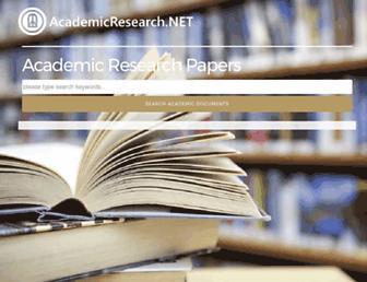 en.academicresearch.net screenshot