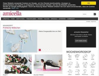 Main page screenshot of amicella.de