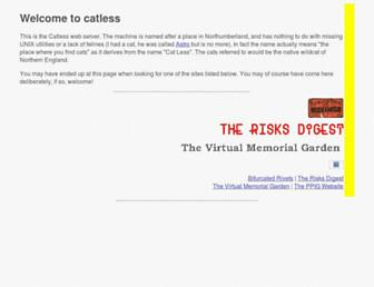 Main page screenshot of catless.ncl.ac.uk