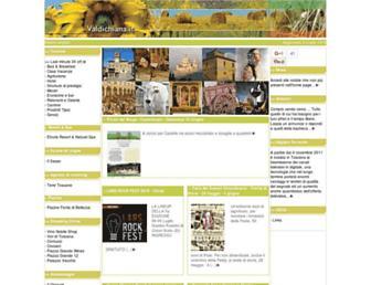 Main page screenshot of valdichiana.it