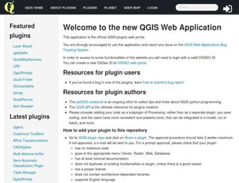 plugins.qgis.org screenshot