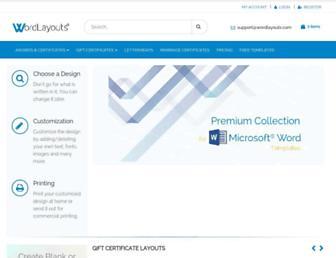 wordlayouts.com screenshot