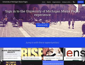maizepages.umich.edu screenshot