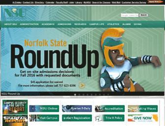 Main page screenshot of nsu.edu