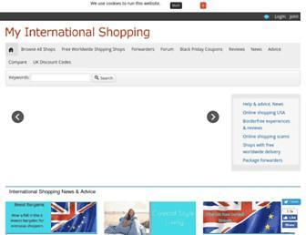 myinternationalshopping.com screenshot