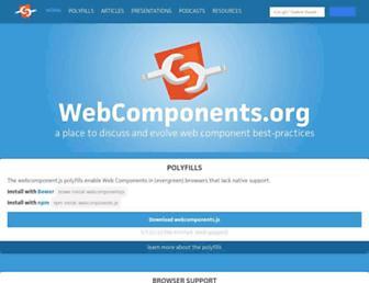 webcomponents.org screenshot