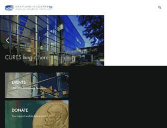 Main page screenshot of hwi.buffalo.edu